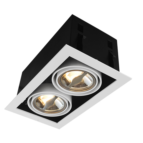 Squre AR70 Recessed Fixture For Double Bulbs